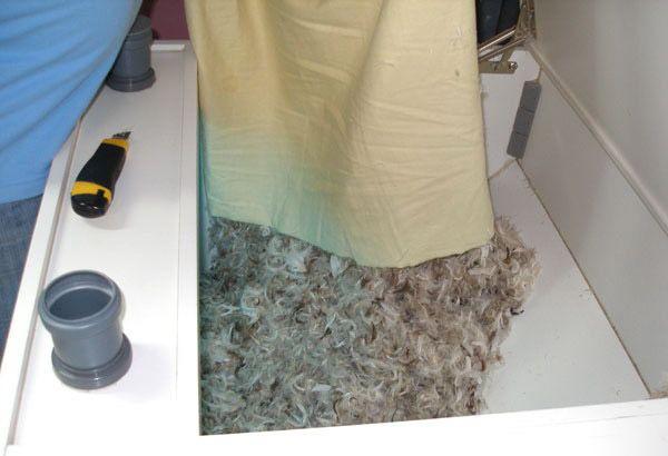 этап 1 по чистке подушки